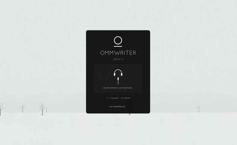 集中できる環境もつくってくれるエディター OmmWriterが好き!