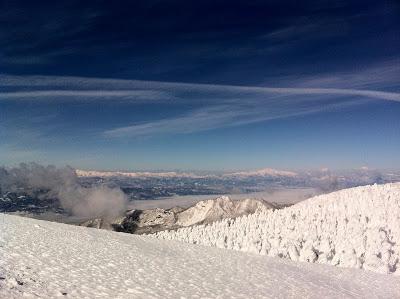 晴天の蔵王でスキーをしてきました