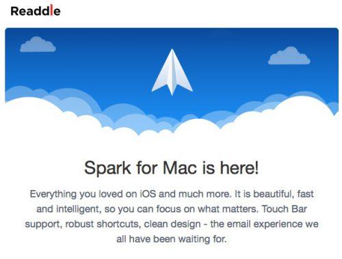 人気メールアプリSparkのMac版が正式発表されました!