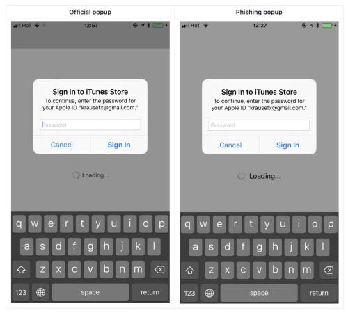 偽ダイアログで「Apple ID」パスワードを簡単に盗むことができてしまう!?